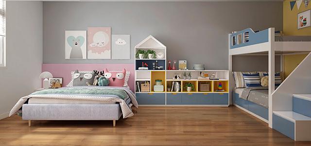 Mẫu Thiết kế nội thất nhà ống 5m x 20m mang phong cách hiện đại - Phòng ngủ cho con