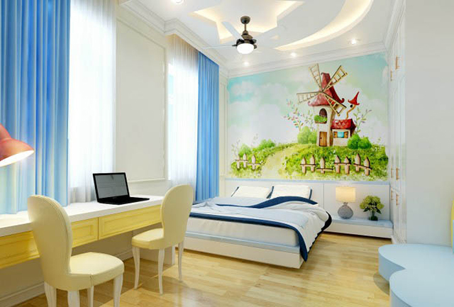 Phòng ngủ nhà chị Hà cho con