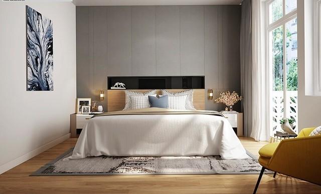 Phòng ngủ không quá cầu kỳ nhưng thực sự sang trọng và ấm cúng