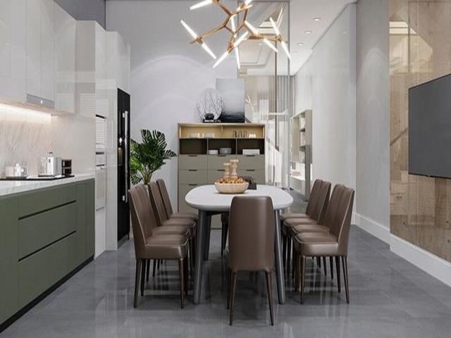 Mẫu Thiết kế nội thất nhà ống 5m x 20m nhà anh Khang - Phòng bếp