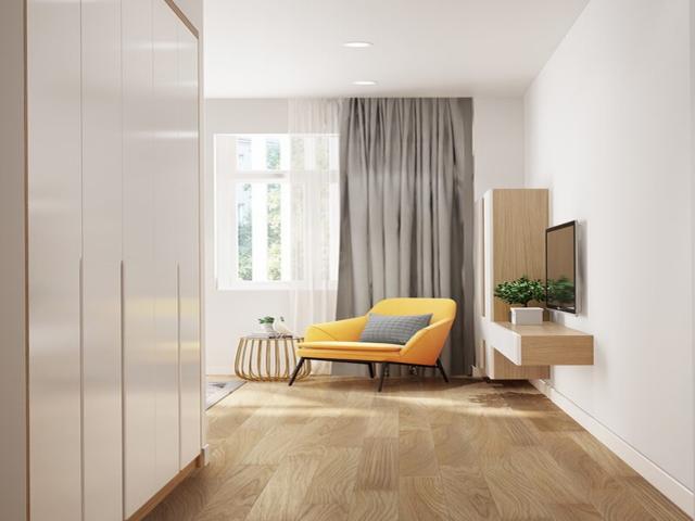 Mẫu Thiết kế nội thất nhà ống 5m x 20m nhà anh Khang - Phòng ngủ