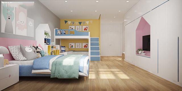Phòng ngủ cho con nhà anh Vinh
