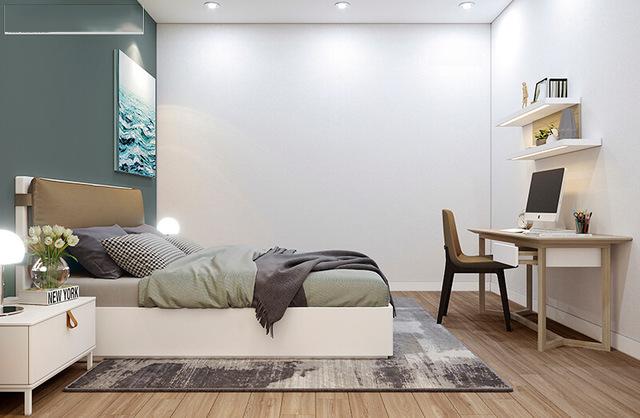 Phòng ngủ cho khách nhà anh Vinh