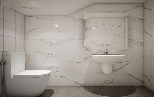 Phòng tắm cực đầy đủ tiện nghi