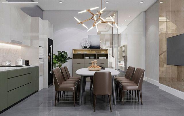 Phòng bếp kết hợp với phòng ăn