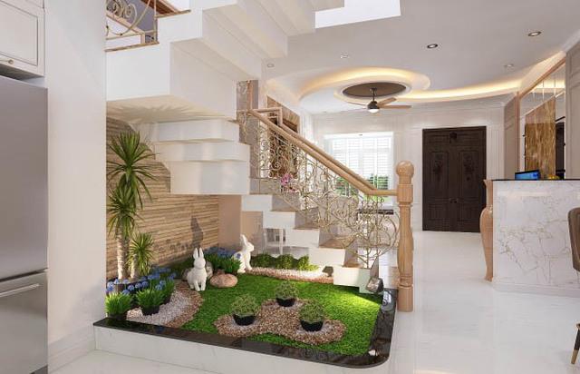 Xây dựng tiểu cảnh trong nhà giúp căn nhà trở nên gần gũi với thiên nhiên hơn.