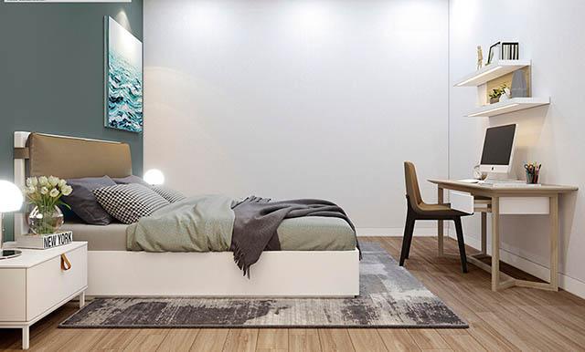 Mẫu Thiết kế nội thất nhà ống 5m x 20m mang phong cách hiện đại nhà anh Vinh - Phòng ngủ cho khách