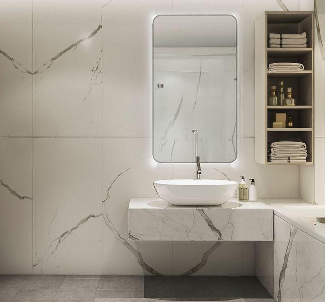 Mẫu Thiết kế nội thất nhà ống 5m x 20m mang phong cách hiện đại nhà anh Vinh - Phòng tắm