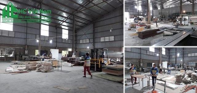 Xưởng sản xuất nội thất của Kiến Trúc HC