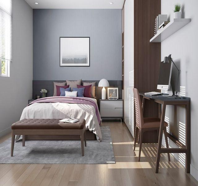 Phòng ngủ khác nhà anh Vinh