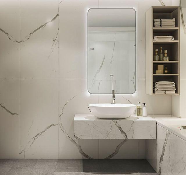 Phòng tắm nhà anh Vinh