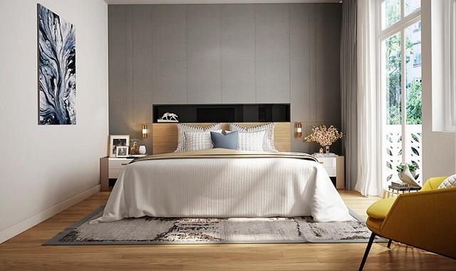 Phòng ngủ cho 2 vợ chồng anh Vinh
