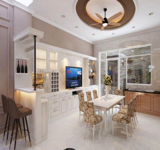 Phòng bếp nhà chị Thu