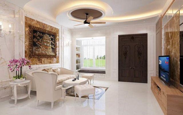 Phòng khách được tận dụng nguồn sáng tự nhiên triệt để