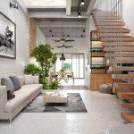 Tổng hợp 15 mẫu cầu thang đẹp trong phòng khách nhà phố