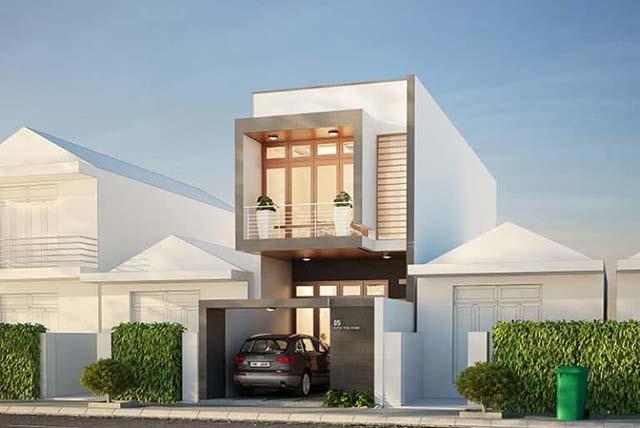 Nếu gia đình bạn sống ở khu vực thành thị thì có thể tham khảo thiết kế nhà 20m2 2 tầng có gara đẹp mắt trên đây