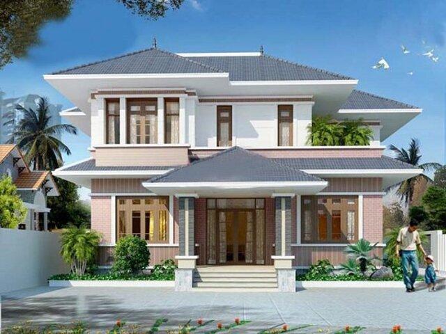 Sự kết hợp của mẫu nhà vuông cùng nét chạm trổ cổ điển giúp ngôi nhà của bạn luôn luôn nổi bật.