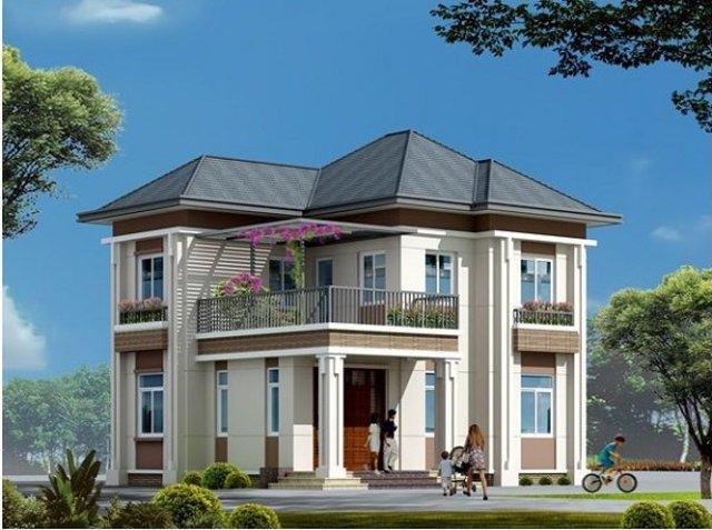Nhà vuông 2 tầng diện tích 100m2 đủ để bố trí đầy đủ phòng riêng cho các thành viên trong gia đình bạn.