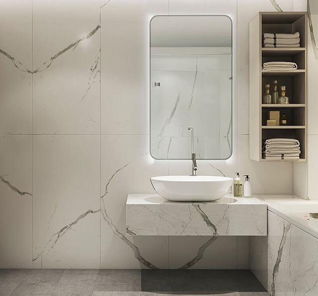 Phòng tắm – Wc thiết kế vách ngăn mang đến sự sạch sẽ, khô ráo