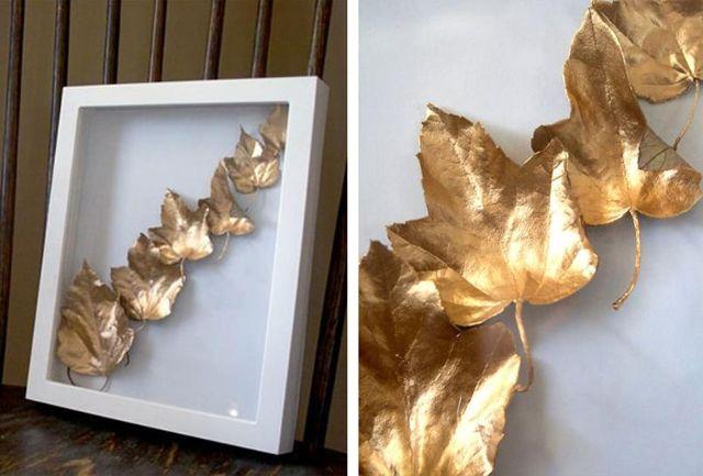 Sử dụng lá vàng để tạo sự gần gũi với thiên nhiên