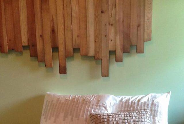 Làm đầu giường độc đáo bằng gỗ