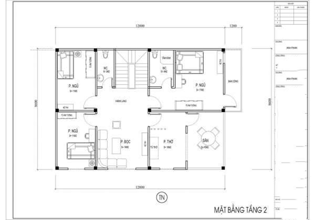 Thiết kế biệt thự 2 tầng đẹp tại Quảng Ninh 4