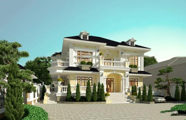 Thiết kế biệt thự kiểu Pháp 700m2 đẹp tại Quảng Ninh 1