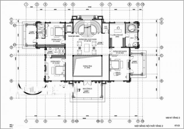 Thiết kế biệt thự tân cổ điển đẳng cấp 1000m2 tại Quảng Ninh 3