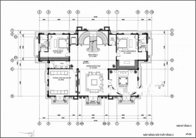 Thiết kế biệt thự tân cổ điển đẳng cấp 1000m2 tại Quảng Ninh 4