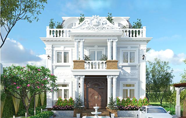 Thiết kế biệt thự tân cổ điển hiện đại 1