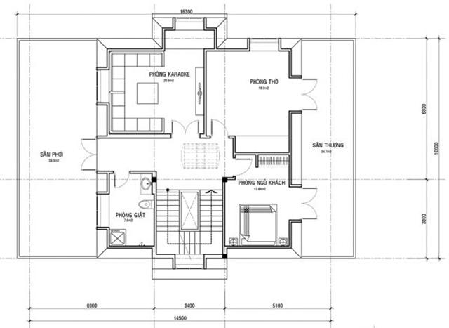 Thiết kế biệt thự tân cổ điển hiện đại 4