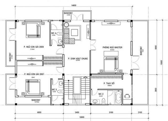 Thiết kế biệt thự tân cổ điển hiện đại 3