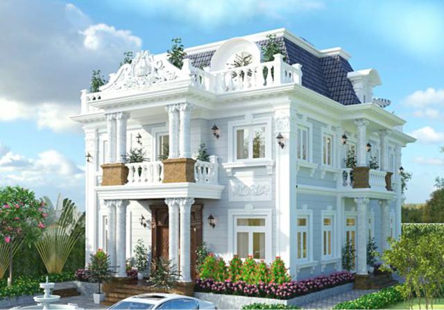 Thiết kế biệt thự tân cổ điển hiện đại