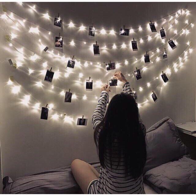 Gắn đèn led vào tường