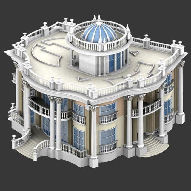 mẫu biệt thự cổ điển 4