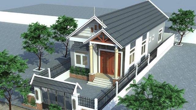 mẫu nhà phố mái ngói 4