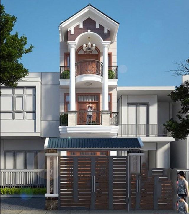 mẫu nhà phố mái ngói 8