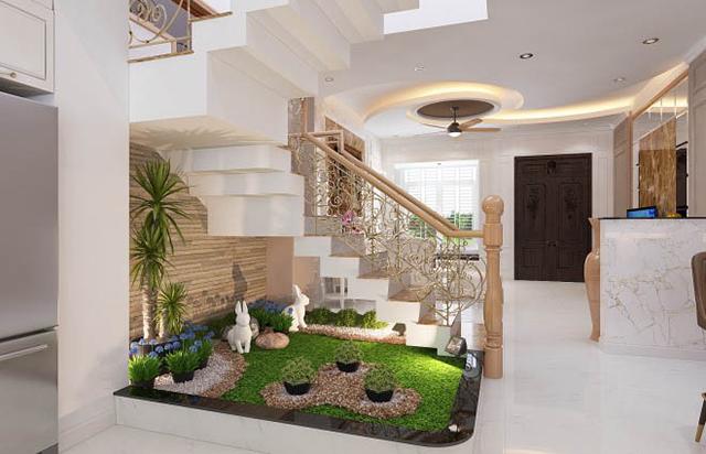 Mẫu thiết kế nội thất nhà phố 5m x 20m mang phong cách tân cổ điển 3