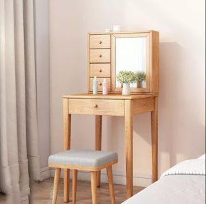 bàn trang điểm đẹp gỗ tự nhiên 4