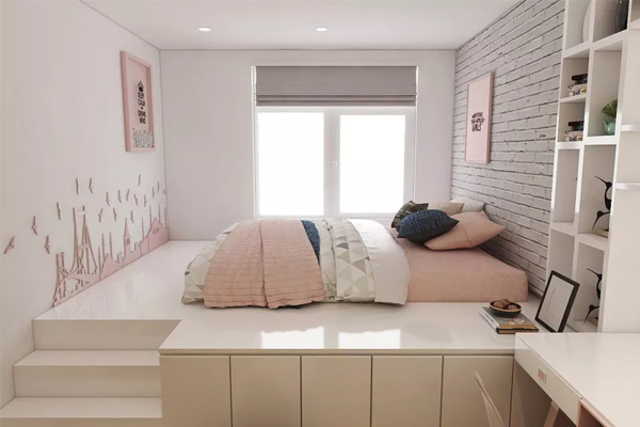 Chọn màu sơn phòng ngủ nhỏ hợp lý