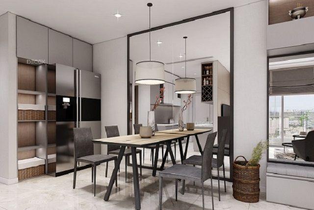 mẫu gương đẹp, cực phù hợp với không gian phòng bếp