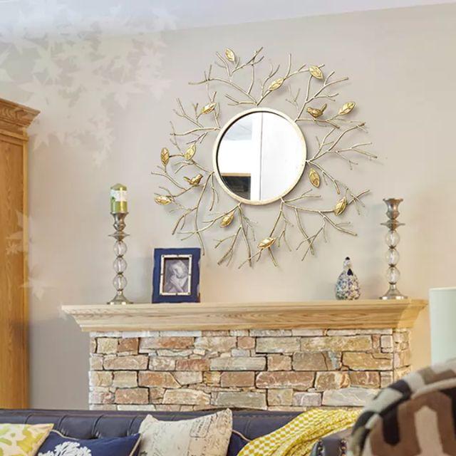 Mẫu gương nghệ thuật trang trí phòng khách