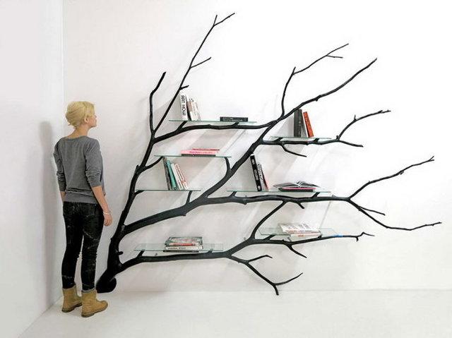 Kệ sách hình cành cây 3
