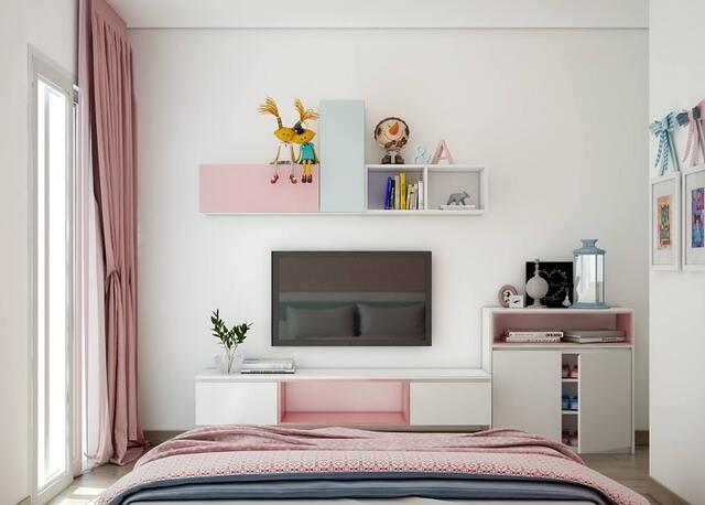 Kệ treo tường phòng ngủ 2