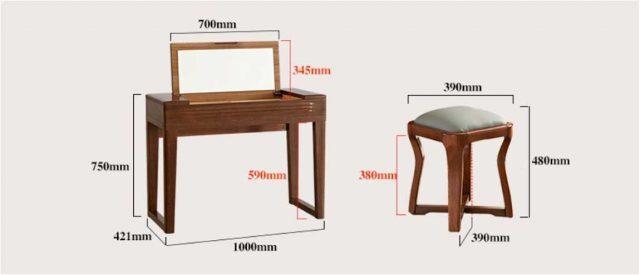 Kích thước bàn trang điểm chuẩn 1