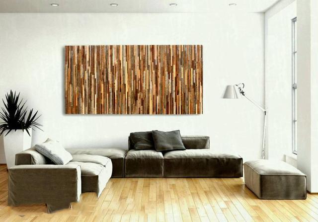 mẫu gỗ ốp tường phòng khách 1