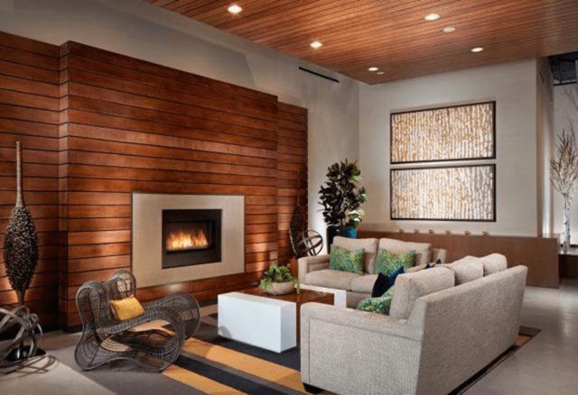 mẫu gỗ ốp tường phòng khách 12