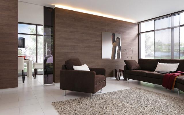 mẫu gỗ ốp tường phòng khách 13
