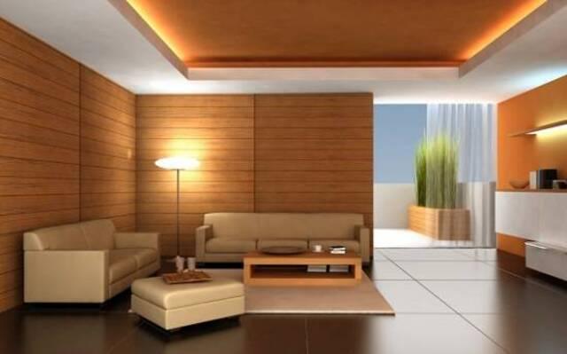 mẫu gỗ ốp tường phòng khách 2