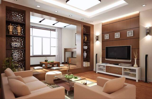 mẫu gỗ ốp tường phòng khách 4
